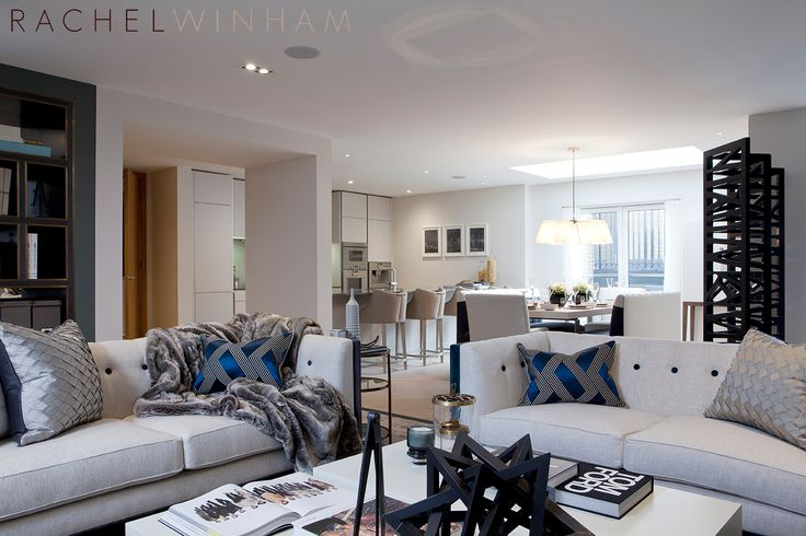 Living, Dining and Kitchen | Rachel Winham Interior Design