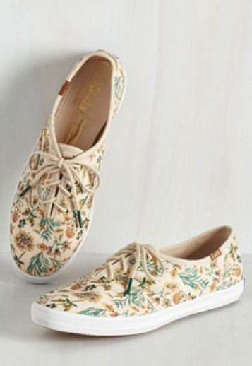 love these floral print Keds