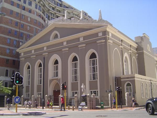 The Groote Kerk, begun in 1700 on land then part of the Company Garden. The building was rebuilt and enlarged about 1780. -Cape Town, South Africa