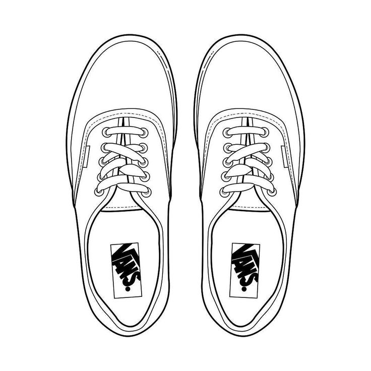 How Do You Draw A Vans Shoe