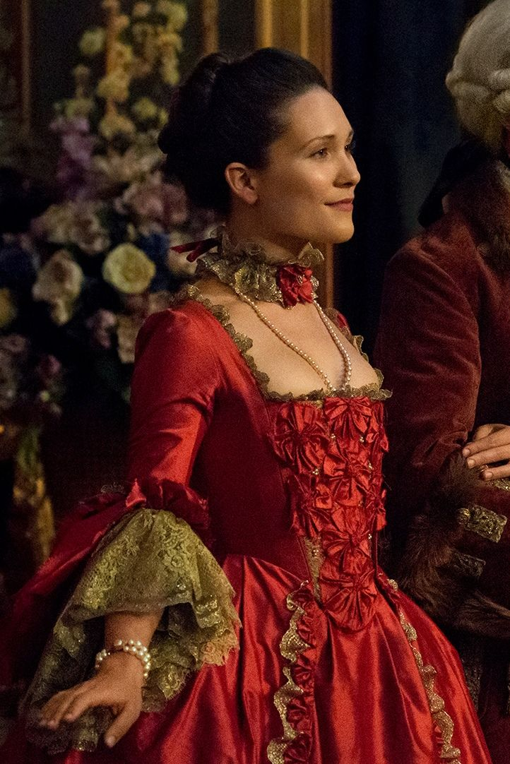 "Louise de Rohan (Claire Sermonne) in Season Two of 'Outlander' on Starz, Episode 204, ""La Dame Blanche"""