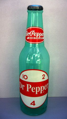 dr pepper the bottles when I was little back in the 70's