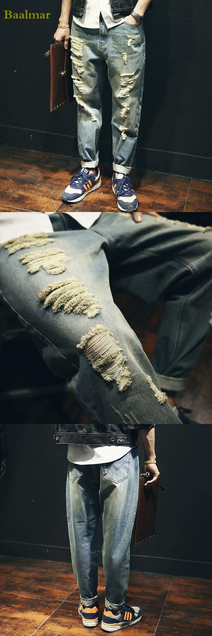Fashion 2017 New Baggy Elastic Harem Jeans Men Plus Size Taper Jeans Joggers Casual Hip Hop Legging Pants Pencil Jeans Homme