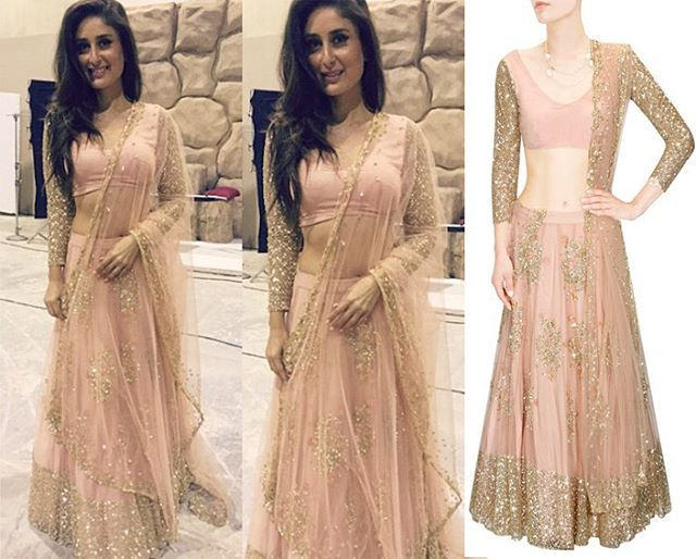 GET THIS LOOK - @therealkareenakapoor looks stunning in this gorgeous outfit by @asthanarangofficial #perniaspopupshop #shopnow #celebritycloset #asthanarang #getthislook