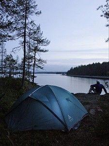 Trekking und Kanutour in Schweden