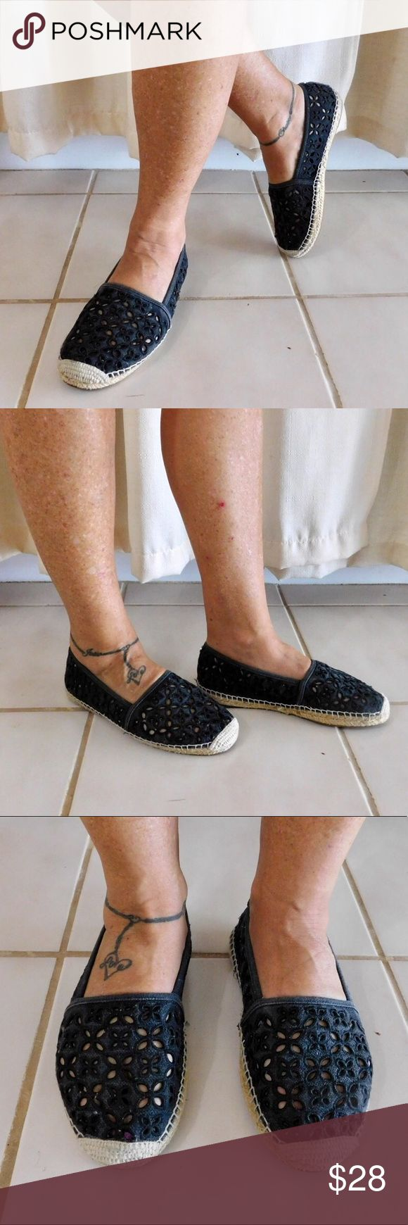 """Michael Kors Cutout Espadrilles In excellent used condition, worn gently. No flaws. Size sticker fell off but I'm pretty sure they're a size 6.5. The style is """"washed denim"""", so they aren't necessarily faded, it's meant to be a """"washed out"""" look. Very comfy and cute for everyday wear! Smoke/pet free home. Ask all questions before buying💓 NO trades!❌🙅🏻 Bundle for a discount!🎉 •more photos coming soon• Michael Kors Shoes Espadrilles"""