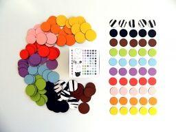 Veselé magnetické puntíky - 150 kusů - Hrackyodjinud