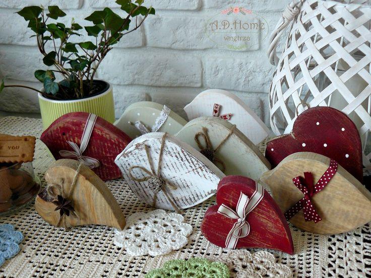 ptaki drewniane hand made, pracownia A.D.Home, shabby chic, dekoracje świąteczne