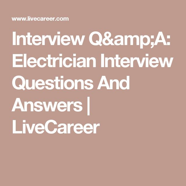Best 25+ Electrical interview questions ideas on Pinterest