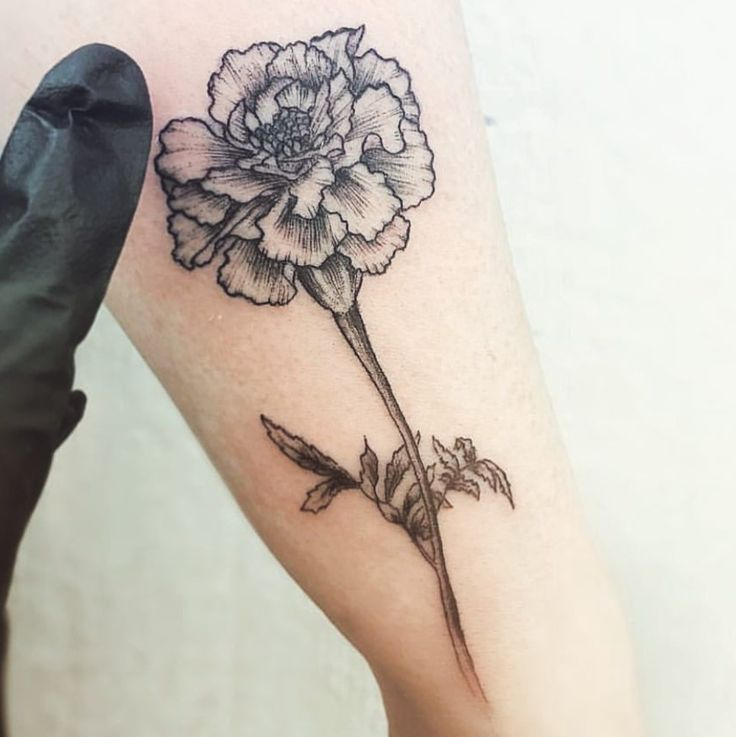 Marigold tattoo for my little