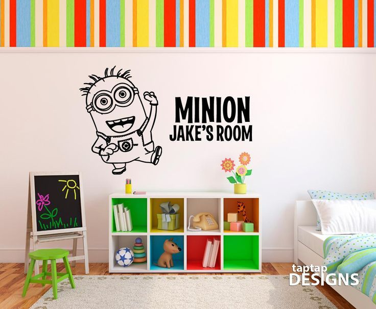 despicable me minion wall mural decal sticker by taptapdesigns