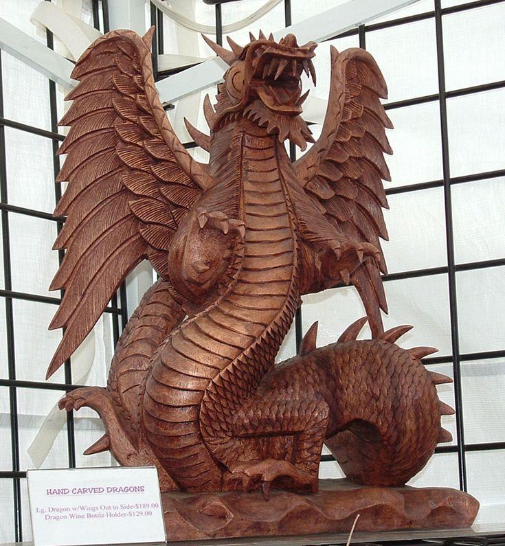 Wooden Dragon | Wooden Dragon by Dracoart-Stock