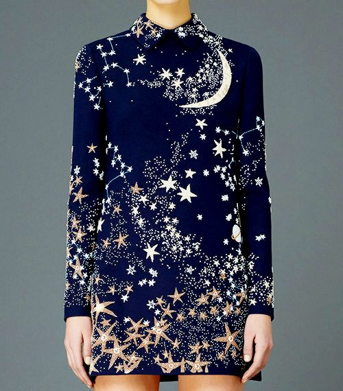 VALENTINO Pre-Fall 2015 — Galaxy details. I WISH SO BAD I COULD AFFORD THIS.