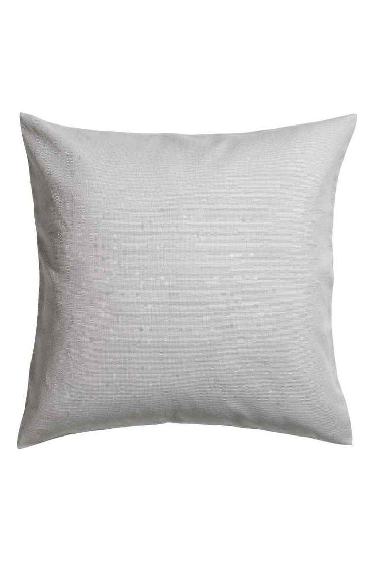 Tyynynpäällinen kanvaasia - Vaaleanharmaa - Home All | H&M FI 1