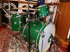DW Collectors Series 3 Piece Maple Drum Set in Green Glass Wrap 2015