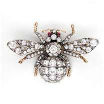 ≗ The Bee's Reverie ≗  Diamond Bee Brooch, Faberge Jewelry
