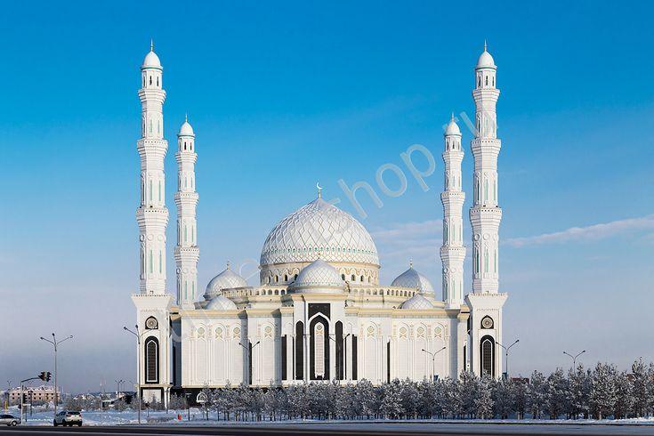 Мечеть Хазрет Султан, картина раскраска по номерам, картина своими руками, размер 40*50см, цена 750 руб