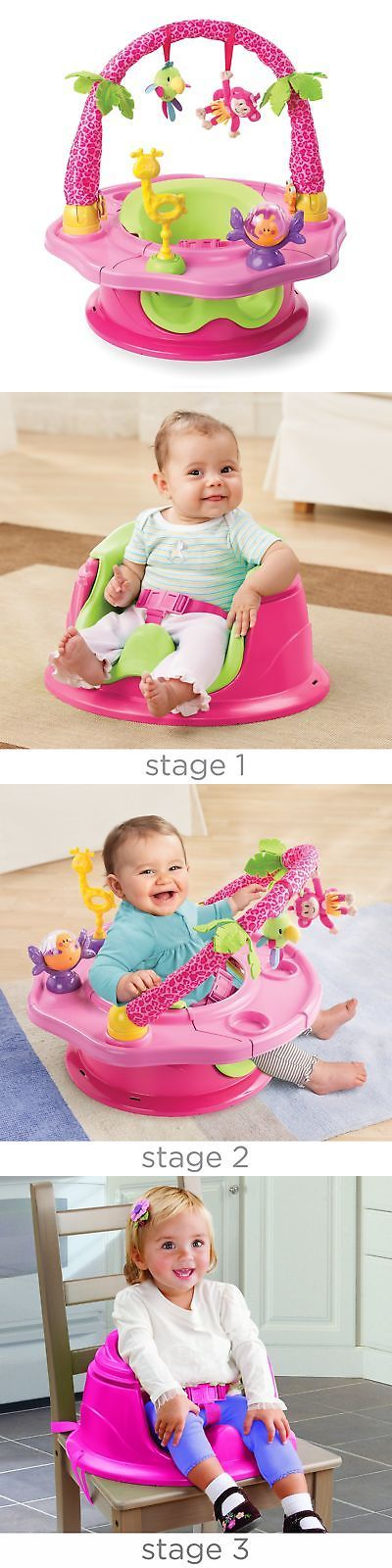 Activity Centers 20413: Pink 3-In-1 Activity Seat Baby Walker Toddler Chair Toy Playground Cup Eat Table -> BUY IT NOW ONLY: $49.29 on eBay!