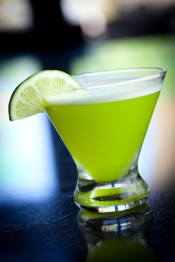 Key Lime Moto- Absolut Vanilla Vodka, Malibu Coconut Rum, Midori Melon Liqueur, Pineapple Juice, Sweet & Sour, Lime Juice