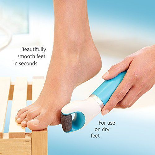 Tools Pedi Perfect Electronic Foot File with Diamond Crystals Manicure Pedicure #Amope