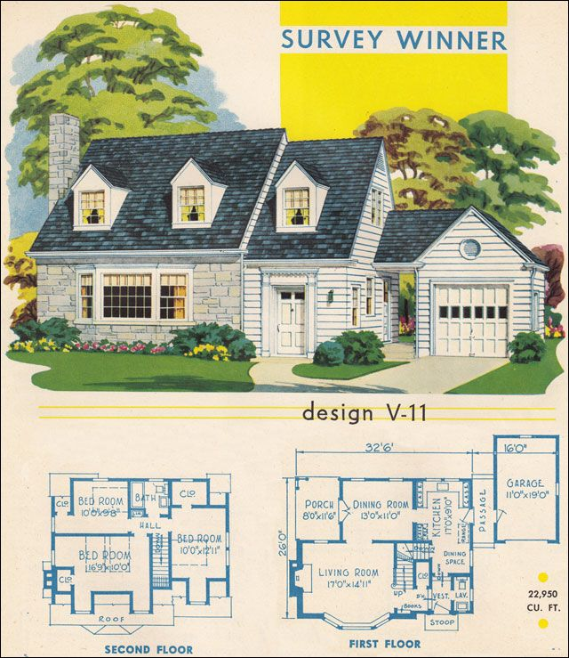 ordinary small cape cod house plans #7: This small house could easily be described as a Cape Cod even though