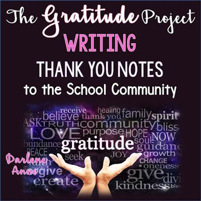Would you like to spread goodwill and gratitude throughout your school community? The Gratitude Project is perfect for Teacher Appreciation Week or as an end of the year project. Fun, easy, and rewarding, it's all explained in this blogpost. I can't wait to start our Gratitude Project!