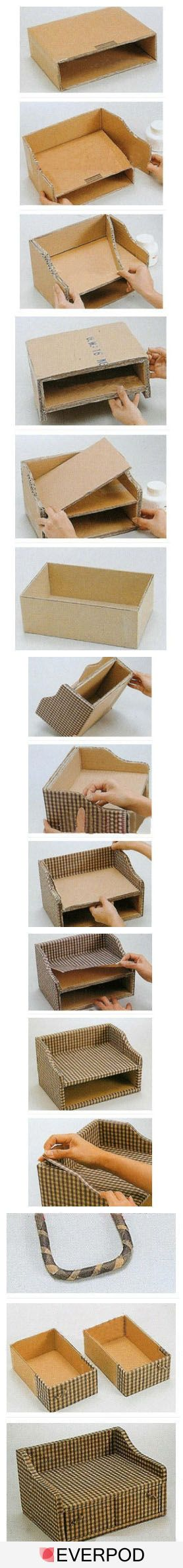 DIY cubicle desk organizer