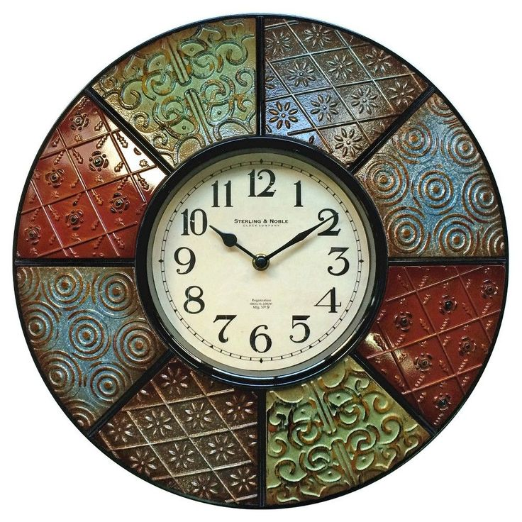 Sterling & Noble Color Pattern Wall Clock 16
