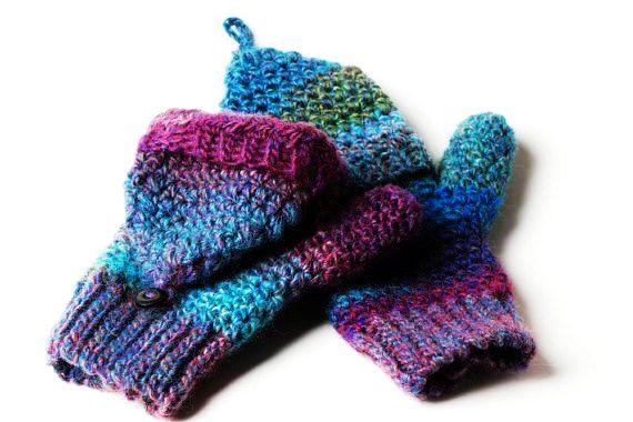 Convertible Mitten Knitting Pattern : PDF Pattern Crochet Convertible Mittens Crochet Pinterest Patterns, Con...