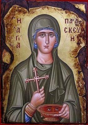 Πνευματικοί Λόγοι: Αγία Παρασκευή η Οσιομάρτυς - Εορτάζει στις 26 Ιου...