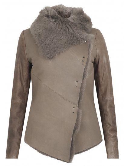 Muubaa Heneley Shearling Jacket in Bisque
