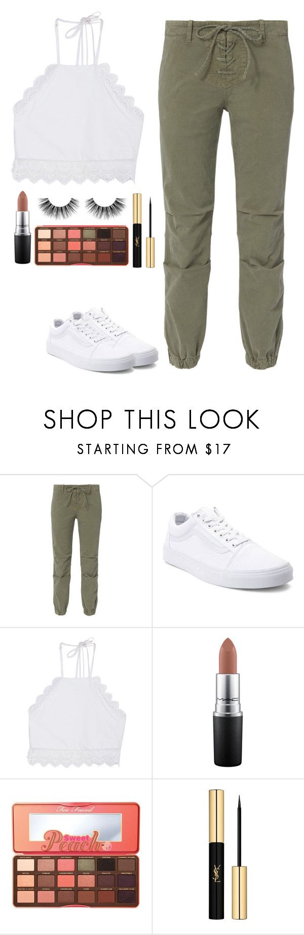 """""""I love it i hate it"""" by arianabut1993 ❤ liked on Polyvore featuring Nili Lotan, Vans, Front Row Shop, MAC Cosmetics, Too Faced Cosmetics, Yves Saint Laurent and Velour Lashes"""