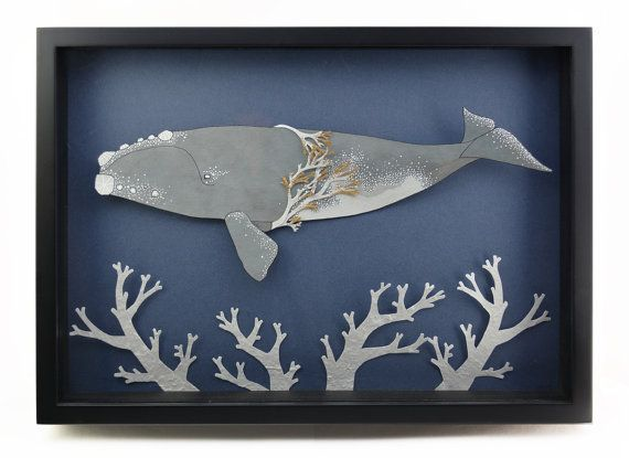 Hey, I found this really awesome Etsy listing at https://www.etsy.com/listing/237896235/whale-original-shadow-box