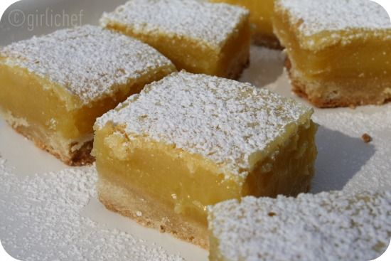 Lemon Bars, adapted from The Barefoot Contessa Cookbook..This is what I made last night at 11pm. YUMMMMM Need to make again. These will be my go to bar.