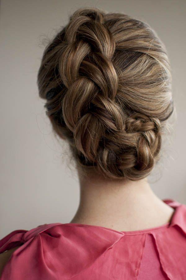Beautiful dutch braided upstyle