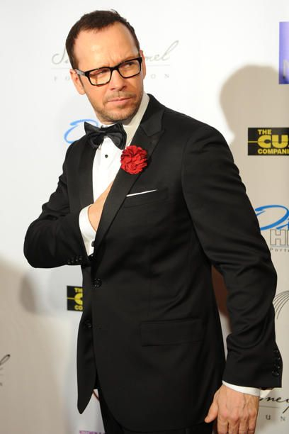 Donnie Wahlberg all dressed up in a tux.