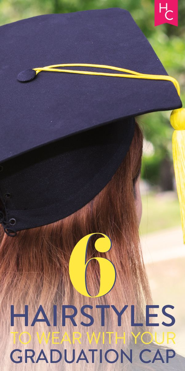 How to style your hair for graduation | http://www.hercampus.com/beauty/6-hairstyles-wear-your-graduation-cap