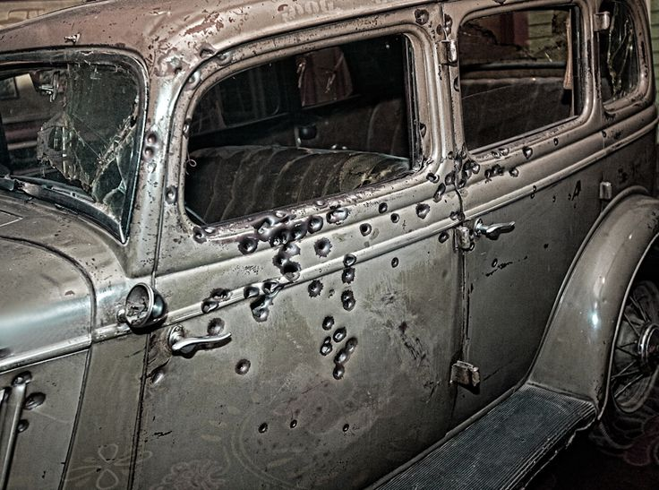 Indiana Gas Tax >> Bullet Riddled Bonnie and Clyde's Car | Famous Moments in ...