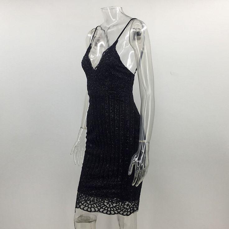 Aliexpress.com: Compre De alta qualidade da moda 2016 mulher v de volta de volta zipper dress mangas bordado de lantejoulas mulheres dress vestidos de confiança dress champagne fornecedores em Joyfunear Store