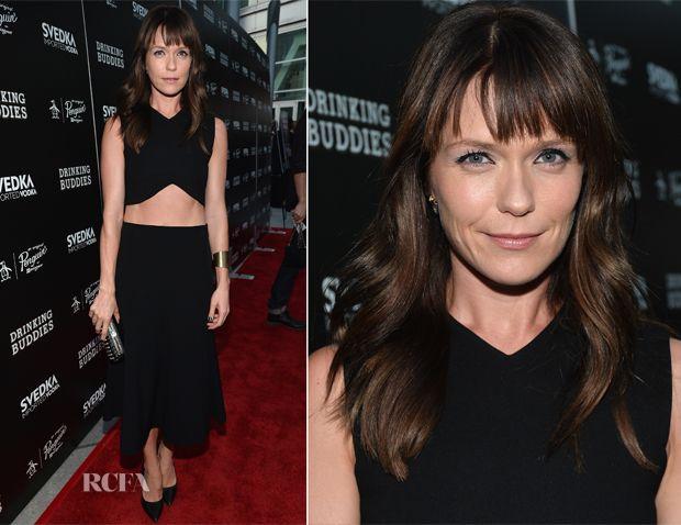 Katie Aselton In Zara & Balenciaga - 'Drinking Buddies' Premiere