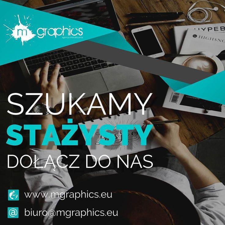 Szukamy stażysty dołącz do nas! Wiecej na www.fb.com/mgraphics.eu #praca #staz #grafik #buskozdroj #mgraphics #nadajemyksztaltypomyslom