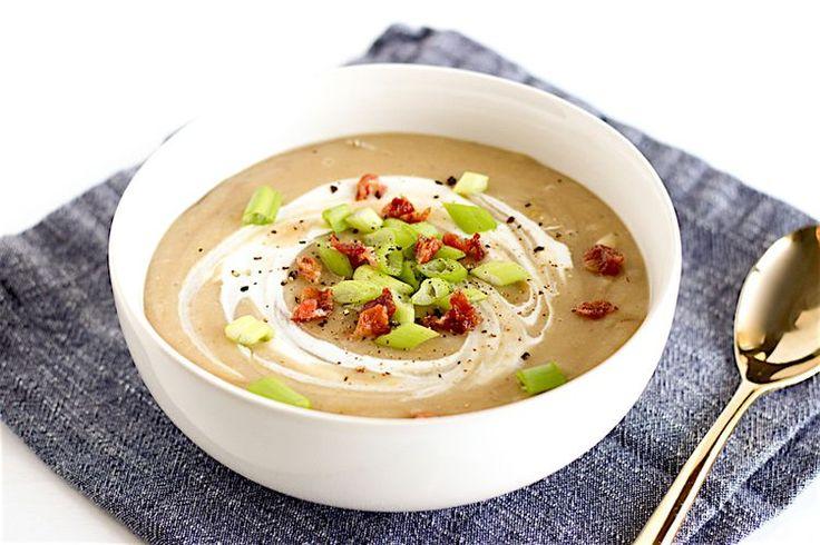 Healthy Potato, Leek, and White Bean Soup