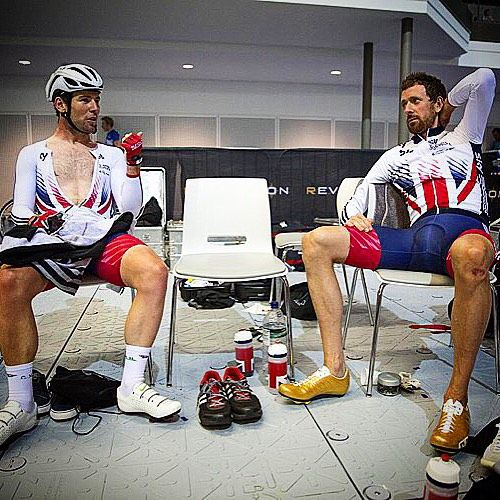 Mark Cavendish and Brad Wiggins Revolutionseries photo courtesy by modcyclingphoto