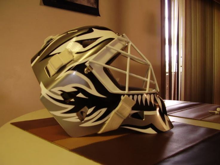 Painting my goalie mask. First Timer - DA.C