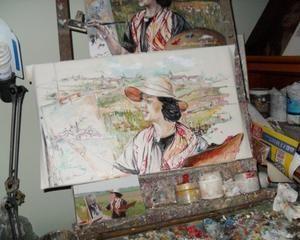 """My Profile - susannagalbarini - Skyrock.com        """"AUTORITRATTO"""" cm 50 x 30 olio su tela, pittura diretta  a cavalletto /  Casa-Studio di pittura ed arte """"Pizzico d'atelier"""" Bussana di Sanremo IM Lg. Italy cell:+ 39 347 17 94 498"""