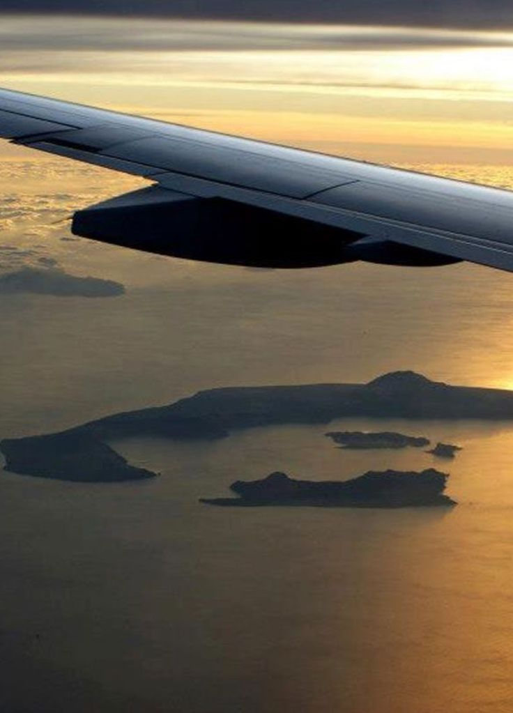 An arial view of Santorini island, Greece. - Selected by www.oiamansion in Santorini.