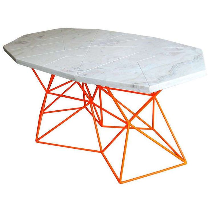 Ownza   Futuristic Asymmetrical Marble Dining Table By Alberto Vieyra (One  Off 1/1