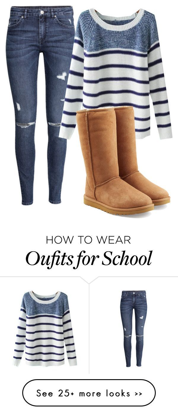 """School"" by jazelle-aeronica on Polyvore featuring H&M, Chicnova Fashion and UGG Australia"