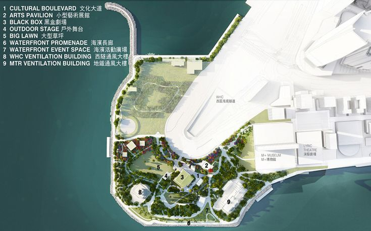 West Kowloon Cultural District Park by WEST8