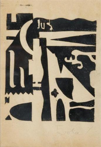 Xilografia - Julius Evola,1919